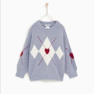 Zara argyle sweater